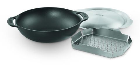 Gourmet BBQ System  - Вок со вставкой для приготовления на пару.