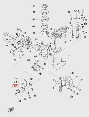 Втулка заводного барабана  для лодочного мотора T5 Sea-PRO (10-32)