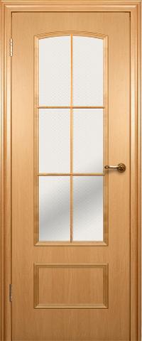 Дверь Краснодеревщик ДО 208, цвет бук, остекленная