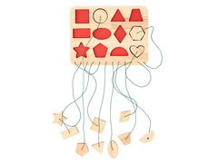 Развивающая игра Рамки-вкладыши Веревочки, Smile-Decor