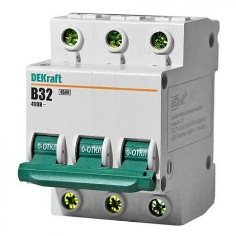 Автоматический выключатель (автомат) 3Р 10А ВА 47-63 EKF / DEKraft