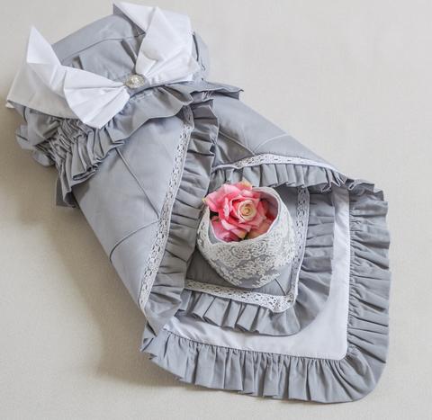 Летний комплект одеяло на выписку + чепчик