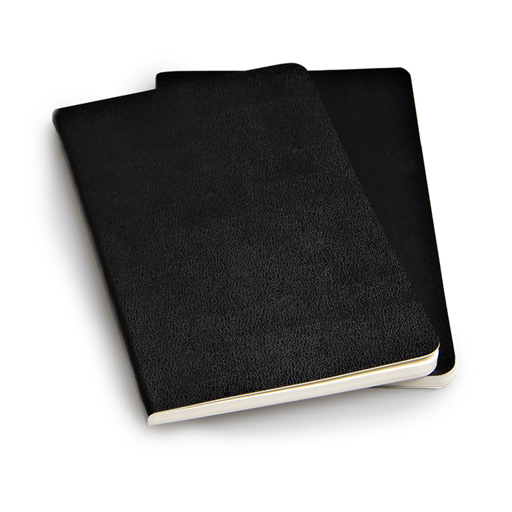 Набор 2 блокнота Moleskine Volant Pocket, цвет черный, без разлиновки