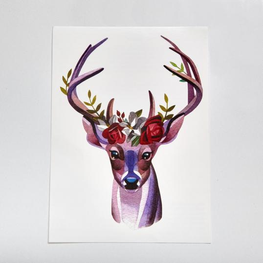 Переводная татуировка Forest Deer