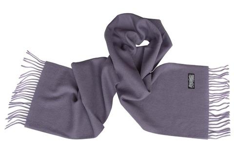 Шерстяной шарф серый 01002