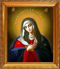 Умиление Серафимо-Дивеевская. Икона Божьей Матери на холсте.