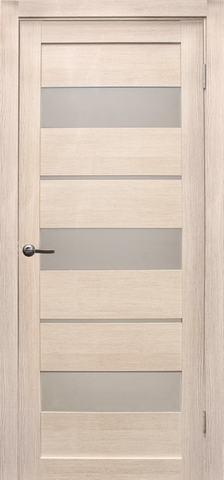 Дверь Эколайт Дорс Параллель, стекло белое матовое, цвет лиственница кремовая, остекленная
