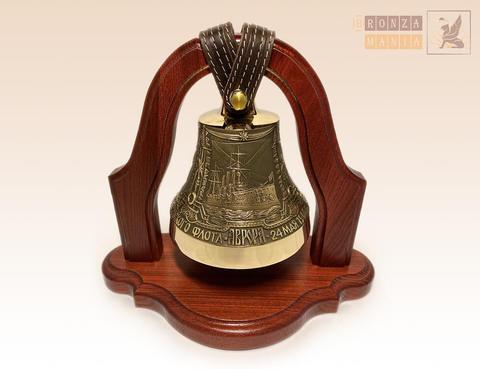 колокол Аврора - Герб Санкт-Петербурга на подставке из дуба