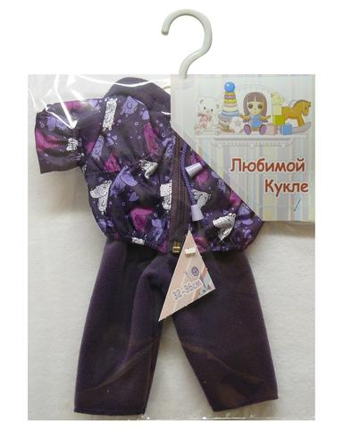 Костюм с курткой - Фиолетовый. Одежда для кукол, пупсов и мягких игрушек.