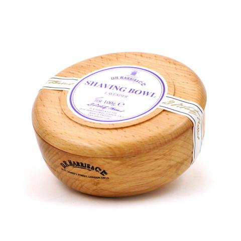 Твердое мыло для бритья в чаше из бука D. R. Harris Lavender