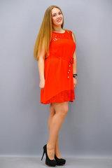 Маки. Платье больших размеров. Красный.