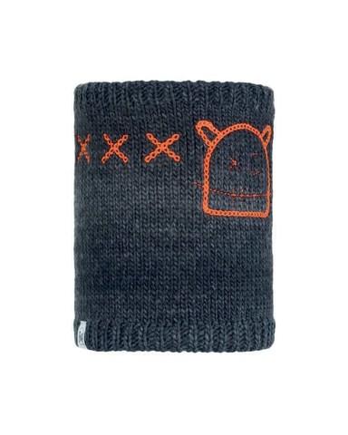 Шарф-труба вязаный с флисовой подкладкой детский Buff Neckwarmer Knitted Polar Monster Jolly Black