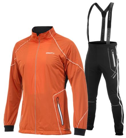 CRAFT HIGH FUNCTION ZIP мужской лыжный костюм оранжевый