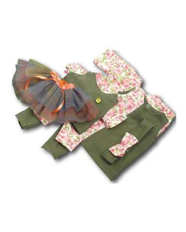 Большой весенний комплект - Хаки. Одежда для кукол, пупсов и мягких игрушек.