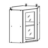 Кухня Страйп Шкаф верхний угловой ШВУС 550*550