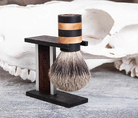 RAZ382 Набор ручной работы из дерева: помазок и подставка