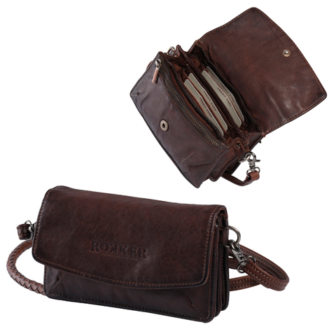 Rokker, Женская сумочка-кошелек, темно-коричневый