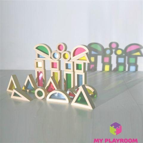 Большой конструктор Радужные блоки (Rainbow blocks), 40 деталей 9
