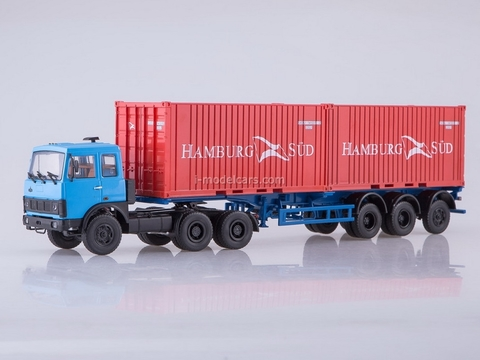 MAZ-6422 (blue) and semitrailer MAZ-938920 1:43 AutoHistory