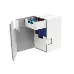 Ultimate Guard - Кожаная белая коробочка с отделением для кубиков на 100+ карт