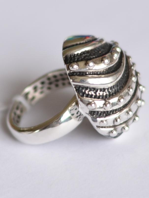 Волны (кольцо из серебра)