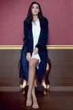 Женский велюровый халат тренч B&B