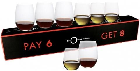 Набор из 8-и бокалов для вина Viognier/Chardonnay  320 мл + Cabernet/Merlot  600 мл Pay 6 Get 8 артикул 5414/50. Серия O Wine Tumbler