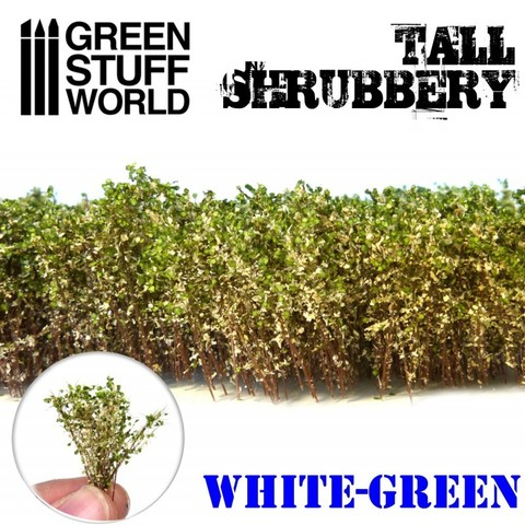 Tall Shrubbery - White/Green