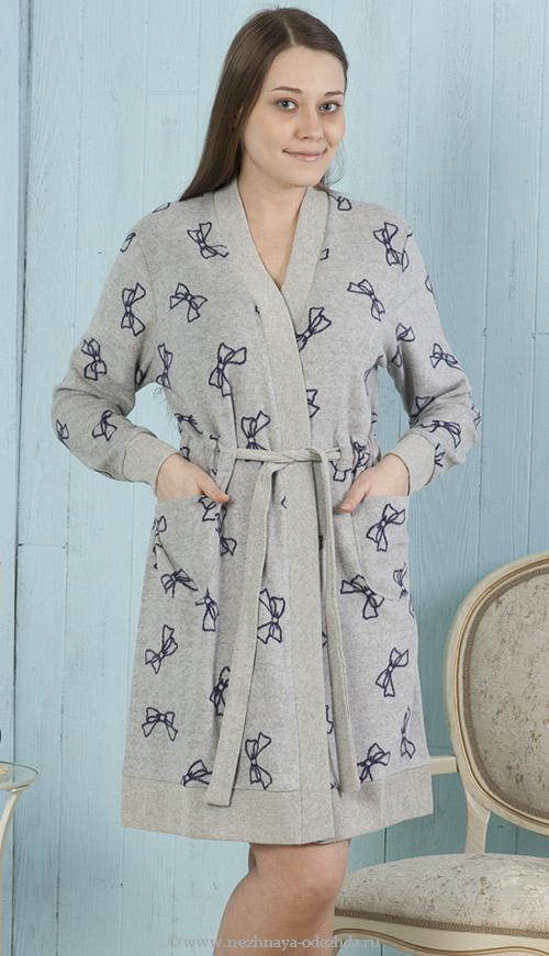 Домашний халат с бантиками DolceVita