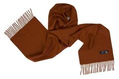 Шерстяной шарф коричневый 01205