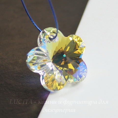 6744 Подвеска Сваровски Цветочек Crystal AB (14 мм) ()