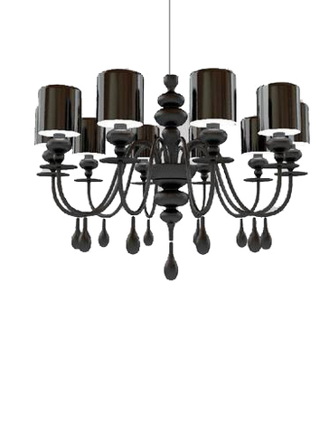 replica  EVA S10 pendant lamp (black)