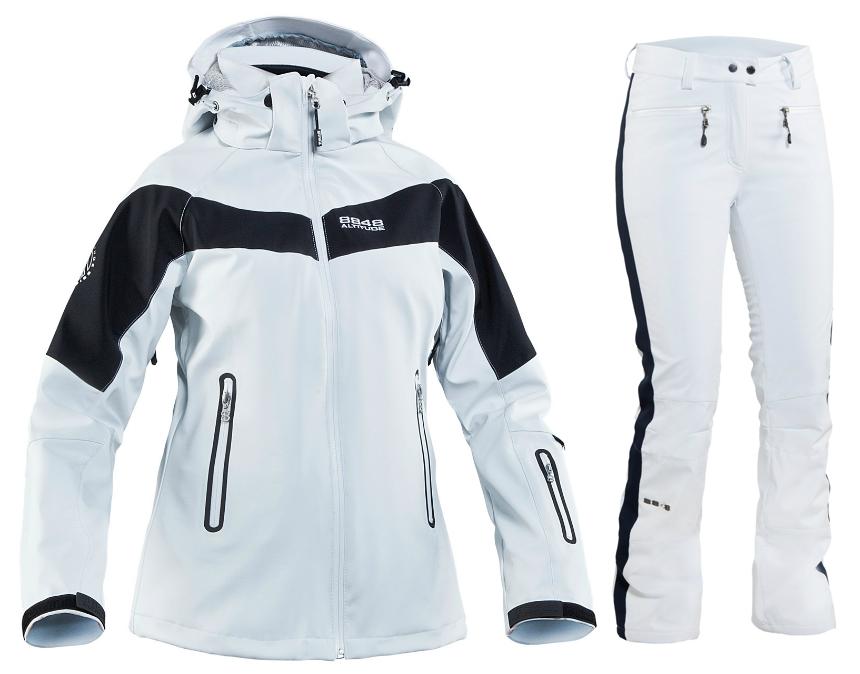 Горнолыжный костюм 8848 Altitude SoftShell белый (661652-679052) женский