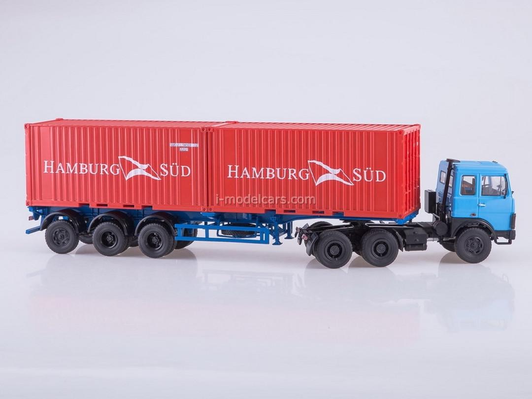 MAZ-6422 (blue) and semitrailer MAZ-938920 1:43 AutoHistory