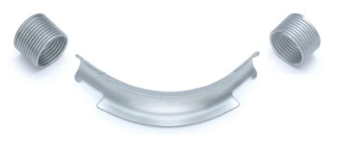 Фиксатор поворота Rehau Rautitan 25 мм. 90° отвод направляющий с кольцами (арт. 11383511002)