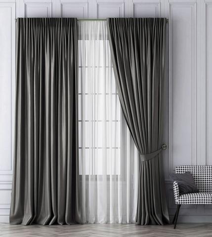 Комплект штор Габриэль серый