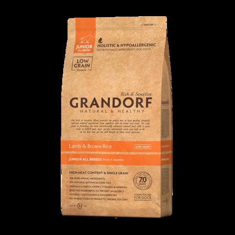 Grandorf Lamb & Rice Junior All Breeds Сухой корм для юниоров всех пород Ягненок с рисом низкозерновой