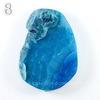 Подвеска Агат (тониров), цвет - синий, 48-65 мм (№8 (54х39 мм)(ЦАРАПИНА))