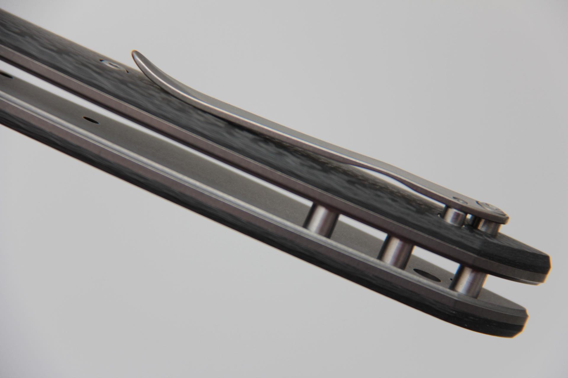Нож Широгоров 110 M390 карбон 3D долы - фотография