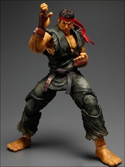 Super Street Fighter IV Play Arts Kai Figure - Evil Ryu Black