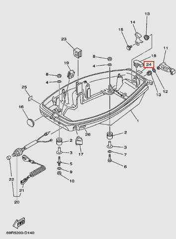 Наклейка для лодочного мотора Т30 Sea-PRO (11-24)