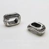 """Бусина для шнура 10х6 мм """"Слоеная"""" (цвет - античное серебро) 19х13х8 мм"""