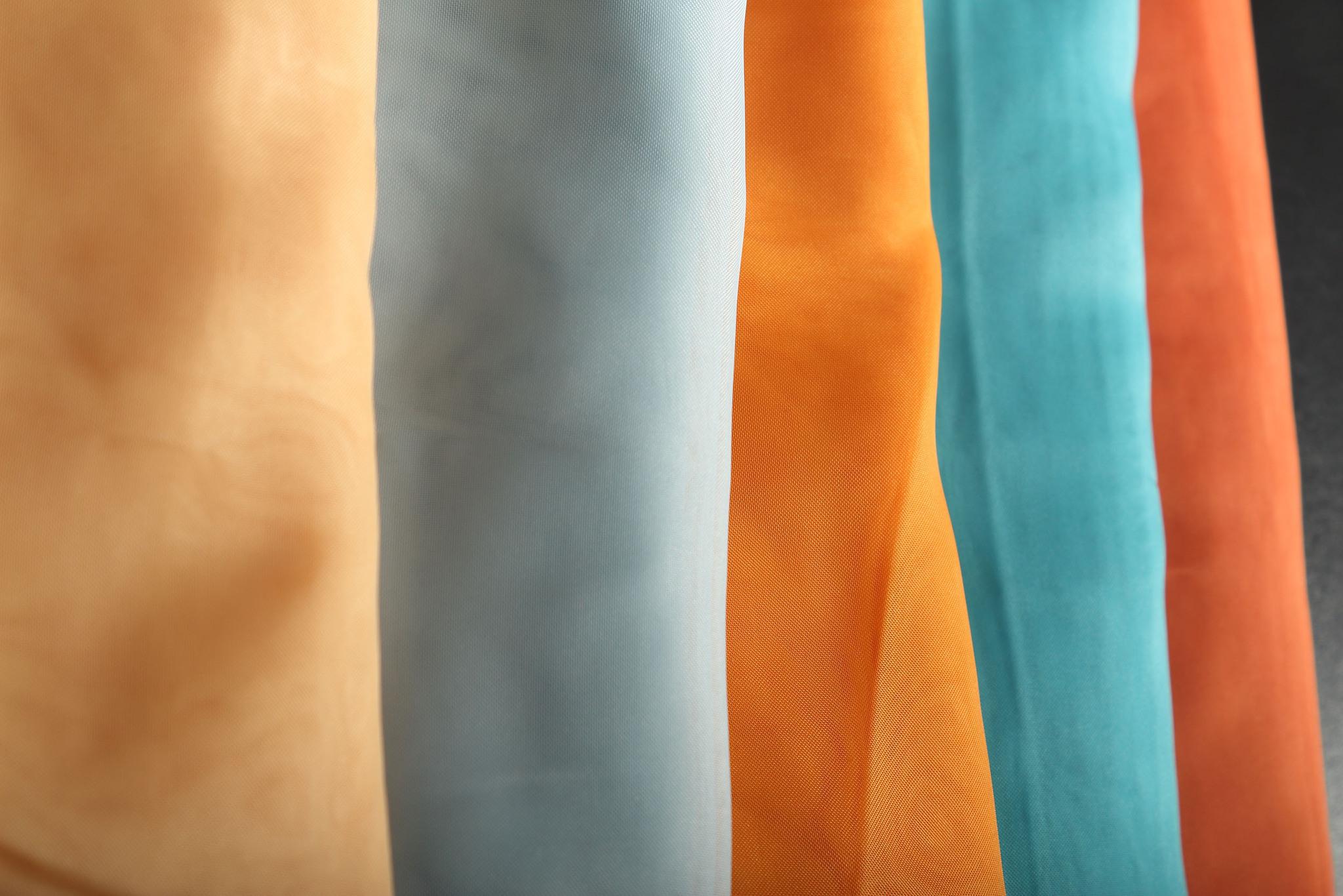 Длинные шторы. Тюль вуаль Nouvelle (Light Blue)
