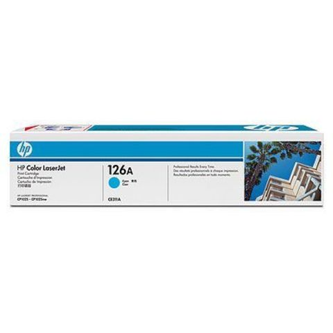 Картридж HP 126A (HP CE311A) голубой для HP LaserJet Pro CP1025, CP1025nw (ресурс 1000 стр.)