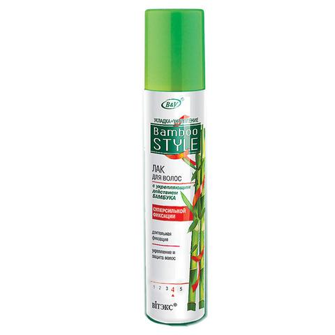Витэкс Bamboo Style Лак для волос с укрепляющим действием бамбука суперсильной фиксации 215 мл