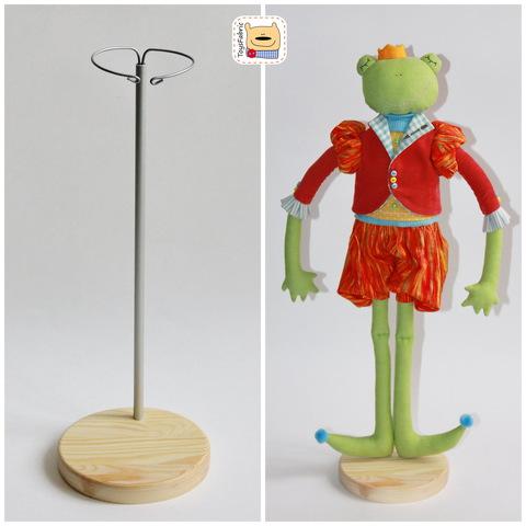 Подставка для кукол круглая D=12см (сосна) с держателем