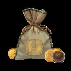 Кедровый грильяж, Сибирский Кедр, с клюквой в шоколаде, холщовый мешочек, 150 г.
