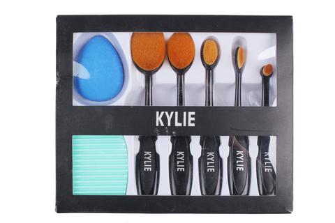 Набор кистей для макияжа Kylie - 5 кистей + спонж + Brushegg