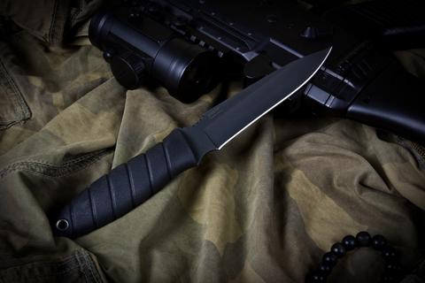 Тактический нож Витязь Черный Эластрон