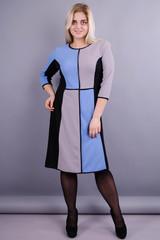 Жюли. Красивое женское платье для дам с пышными формами. Голубой.